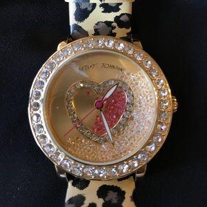 Betsey Johnson Crystal Leopard Watch